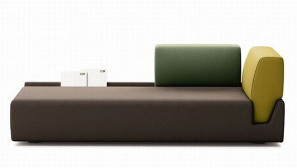 Elegant Contemporary Sofa with Detachable Back Rests_image