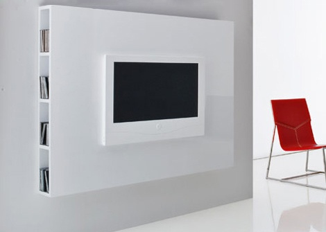 European TV Stand - wall hanging stand by Compar_image