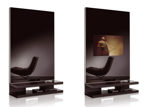 TV Mirror Wall Unit_image