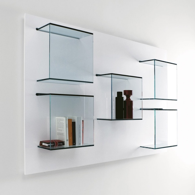 Tonelli Dazibao Glass Wall Unit Shelving Units Go Modern Furniture Findmefurniture