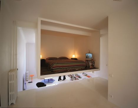 Lofted Bedroom-in-a-Box Design Hangs from Ceiling_image