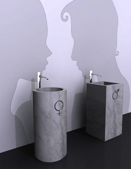 His & Hers Freestanding Sinks By Vitruvit_image