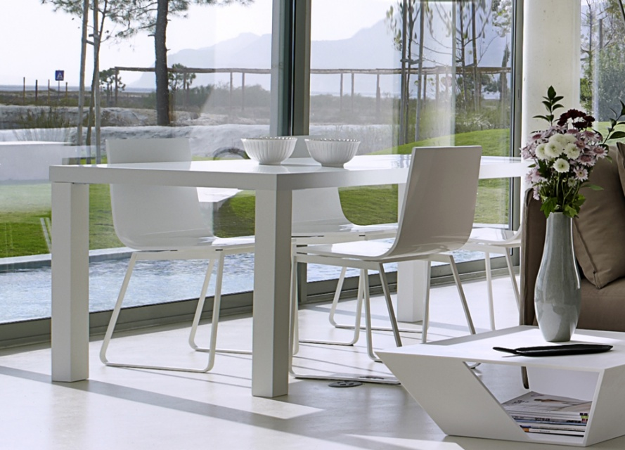 Multi White Dining Table Dining Tables Go Modern Furniture