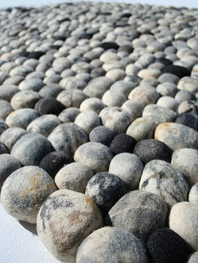 Faux Pebble Rug Made Of Wool