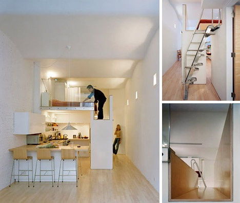 Loft Bed turns Single-Floor Studio to Two-Level Apartment_image