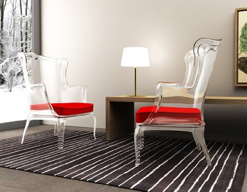 Elegant Transparent Armchair in Classic Form – Pasha by Pedrali_image