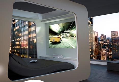 High-Tech Bed Has Built-In TV, Computer & Game Systems_image