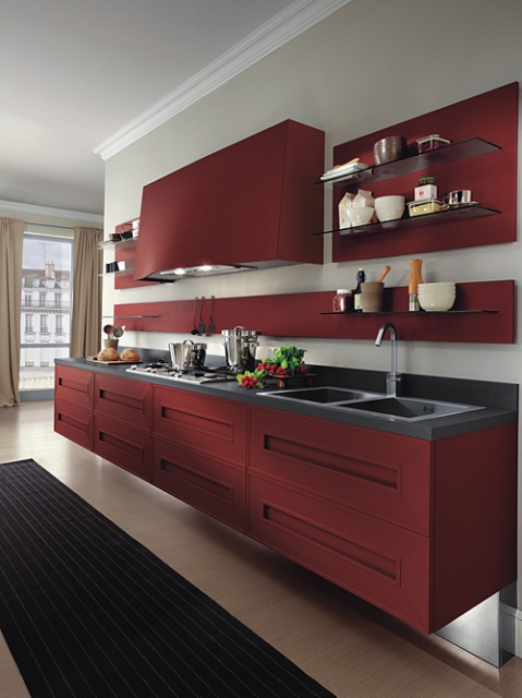 Red Melograno Kitchen_image