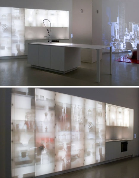 X-Ray Kitchen: Custom Cabinets with Built-In Back-Lighting_image