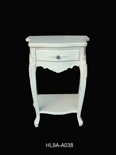 Bergere cream pair of bedside tables bedside tables for Table bergere
