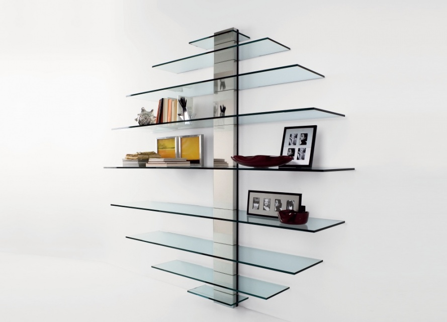 Tonelli Mondovisione Glass Wall Unit Shelving Units Go Modern Furniture Findmefurniture