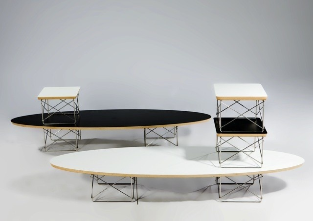 Superb Eames Elliptical Coffee Table / Surfboard Table _image1