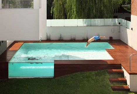 Decked Out: Wood Patio and Above-Ground Swimming Pool_image