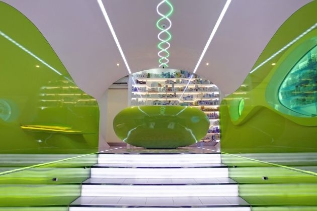 Futuristic Pharmacy in Belgrade designed by Karim Rashid_image
