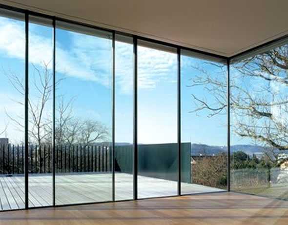 Architectural Glass Sky Frame Insulated Sliding Windows