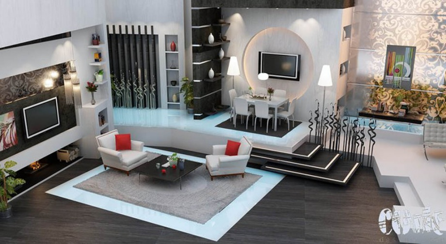 Contemporary Jordan Culture in Living Room Design_image