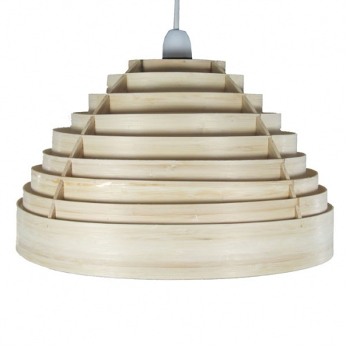 Slatted Dome Bamboo Pendant, Ceiling Lights, Dunelm (Soft
