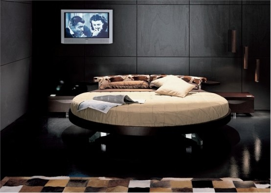 Contemporary Leather Round Beds by Prealpi_image