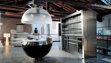 The Sheer Kitchen Makes Entraps a Full Kitchen in a Sphere_image