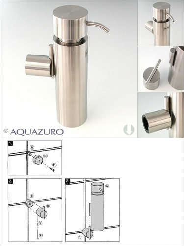 Blomus Duo Wall Mounted Soap Dispenser Soap Dish And