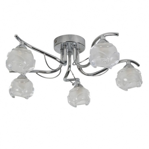 5 Light Wave Arm Semi Flush Fitting, Ceiling Lights