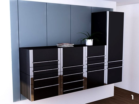 Modular Modernism: Space-Saving Kitchen Cabinet System_image