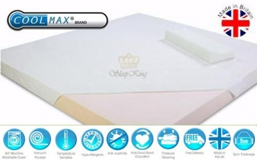 Coolmax Memory foam toppers 3ft single_main_image