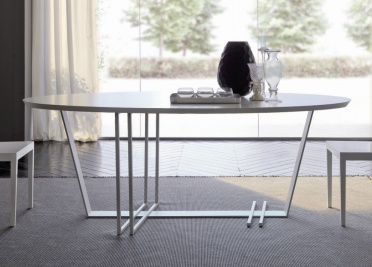 Bimax Criss Cross Oval Dining Table _main_image