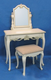 Antique White Dressing Table Set_main_image