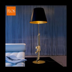 Flos - M16 Gold Lounge Gun Floor Light_main_image