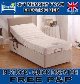 3ft Single Memory Foam Adjustable Electric Bed_main_image
