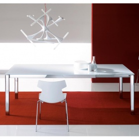 Andy Extending Glass Dining Table, Small