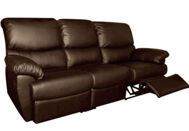Ottawa 3-Seater Leather Recliner Sofa