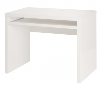 High gloss computer desk white