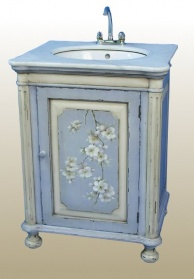 Blue Hand Painted Sink Unit