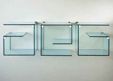 Tonelli Alfabeta Pair of Glass Wall Shelves _main_image