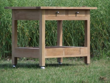 Teak Trolley & Table Extension_main_image