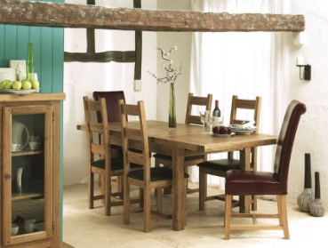 Windermere Oval extending solid Oak dining set_main_image