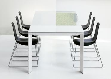 Bonaldo Twice Extending Glass Dining Table