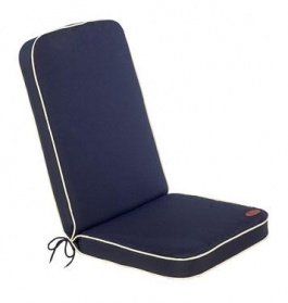 Cushion with Back - Midnight Blue