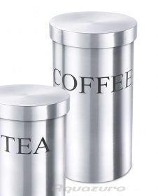 Coffee canister - stainless steel - Zack Vivace