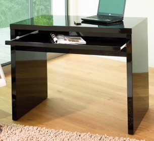 High gloss computer desk black
