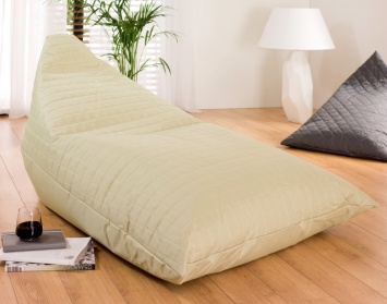 Giant triangle bean bag taupe_main_image