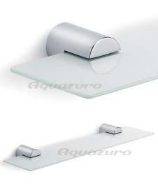 Duo polished bathroom shelf