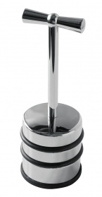 Chrome finish door stop with handle _main_image