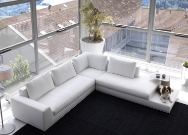 Summer Leather Corner Sofa