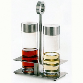 Zack Gemini stainless steel oil and vinegar set