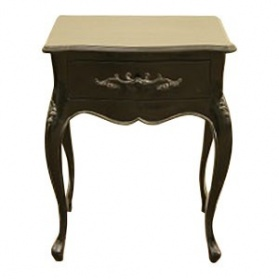 Lily Black Bedside Table