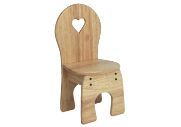 Wooden Chair with cut out heart_main_image