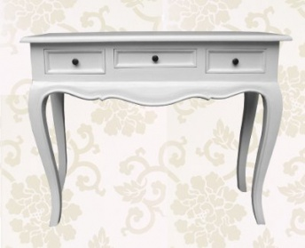 White Linen Dressing / Console Table_main_image